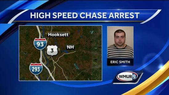 Concord man faces slew of charges after high-speed chase