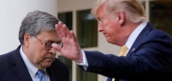 Barr faced Trump after rejecting president's vote fraud claim