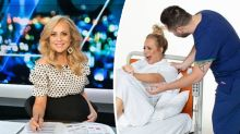 Carrie Bickmore releases confronting birth photo