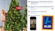 Aldi's $99 pre-lit Christmas tree is back and shoppers are thrilled