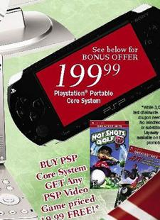 Deal of the Day: Free $20 game with purchase of Core PSP at Meijer