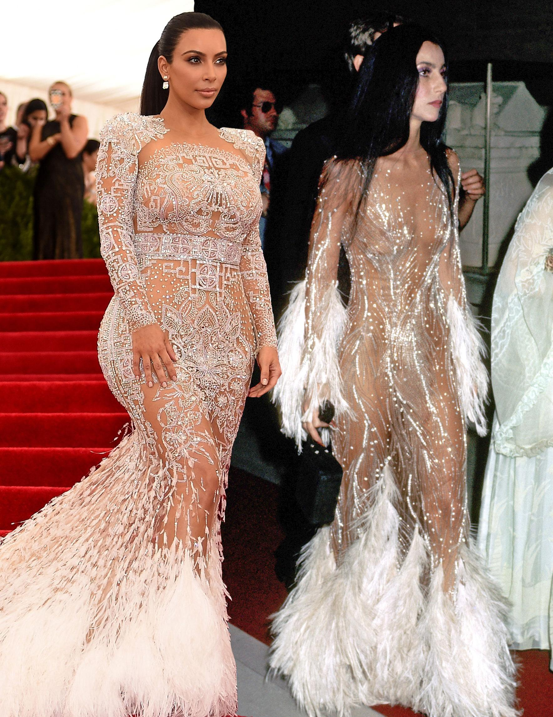 Kim Kardashian\'s Sheer Gown Was Inspired by Cher