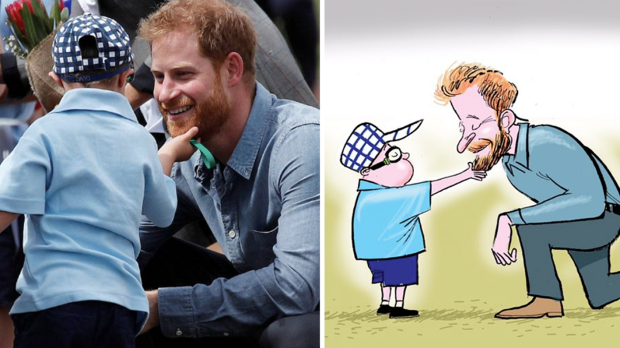 'The Duke of Sussex kneels to receive the highest honour'