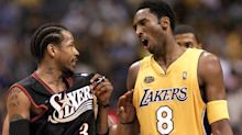 Sixers guard Allen Iverson pays homage to late Kobe Bryant on Twitter