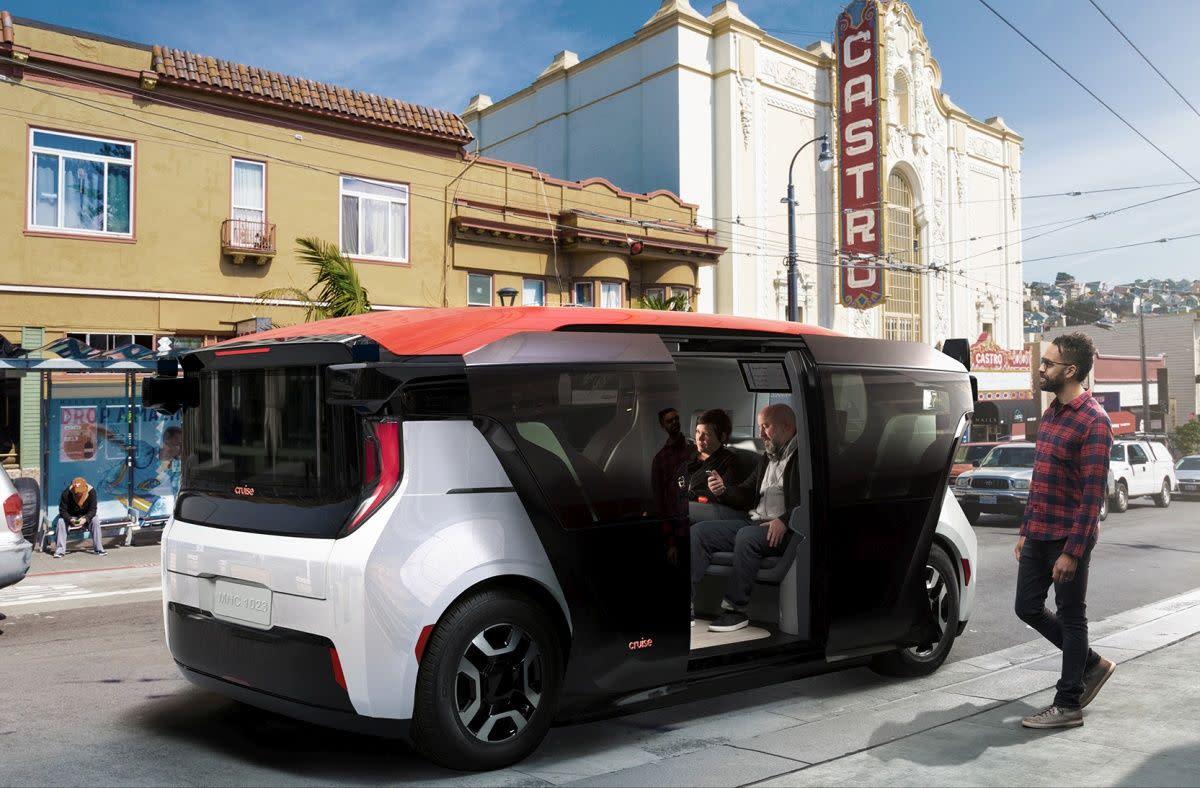 Cruise 打造了一台共乘用的電動迷你巴士