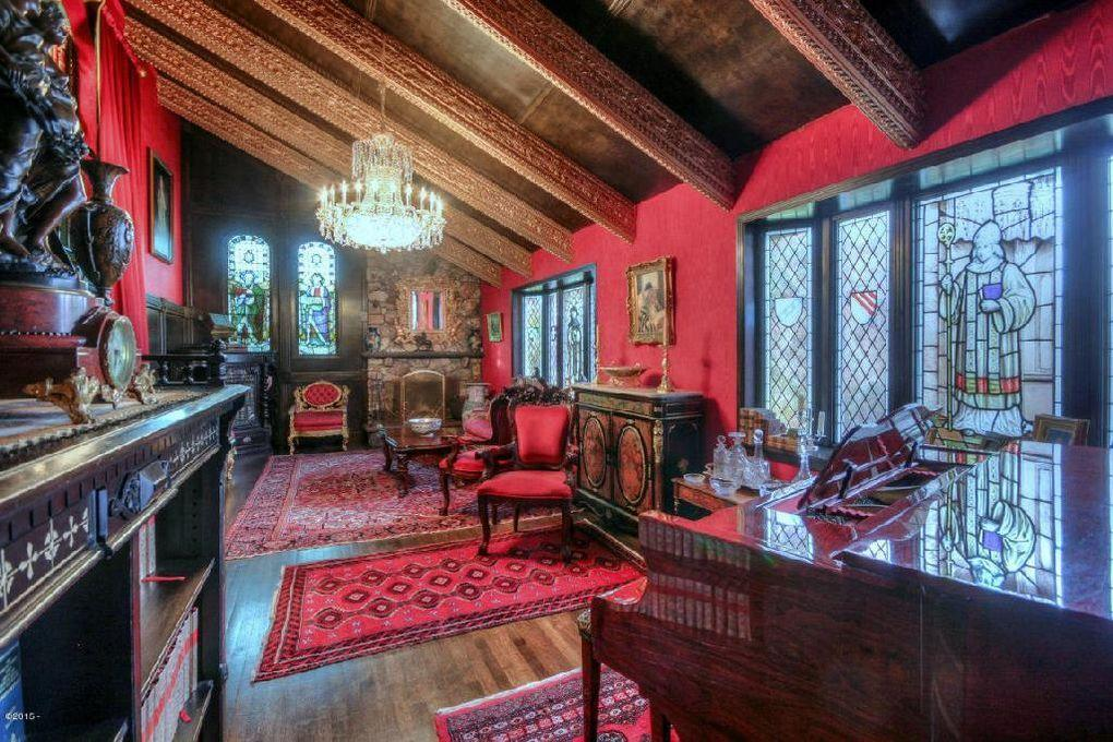 <p>The curtains throughout the house are designed to match the interiors and cost about $150 a yard, Barton says.</p>