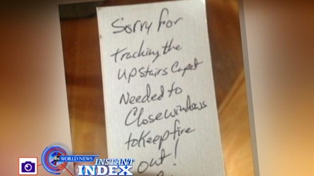 Instant Index: Hero Firefighters Leave Apology Note After Wildfire