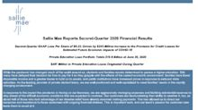 Sallie Mae Reports Second-Quarter 2020 Financial Results