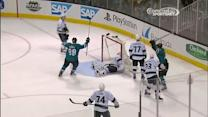 Joe Thornton buries wraparound on Scrivens