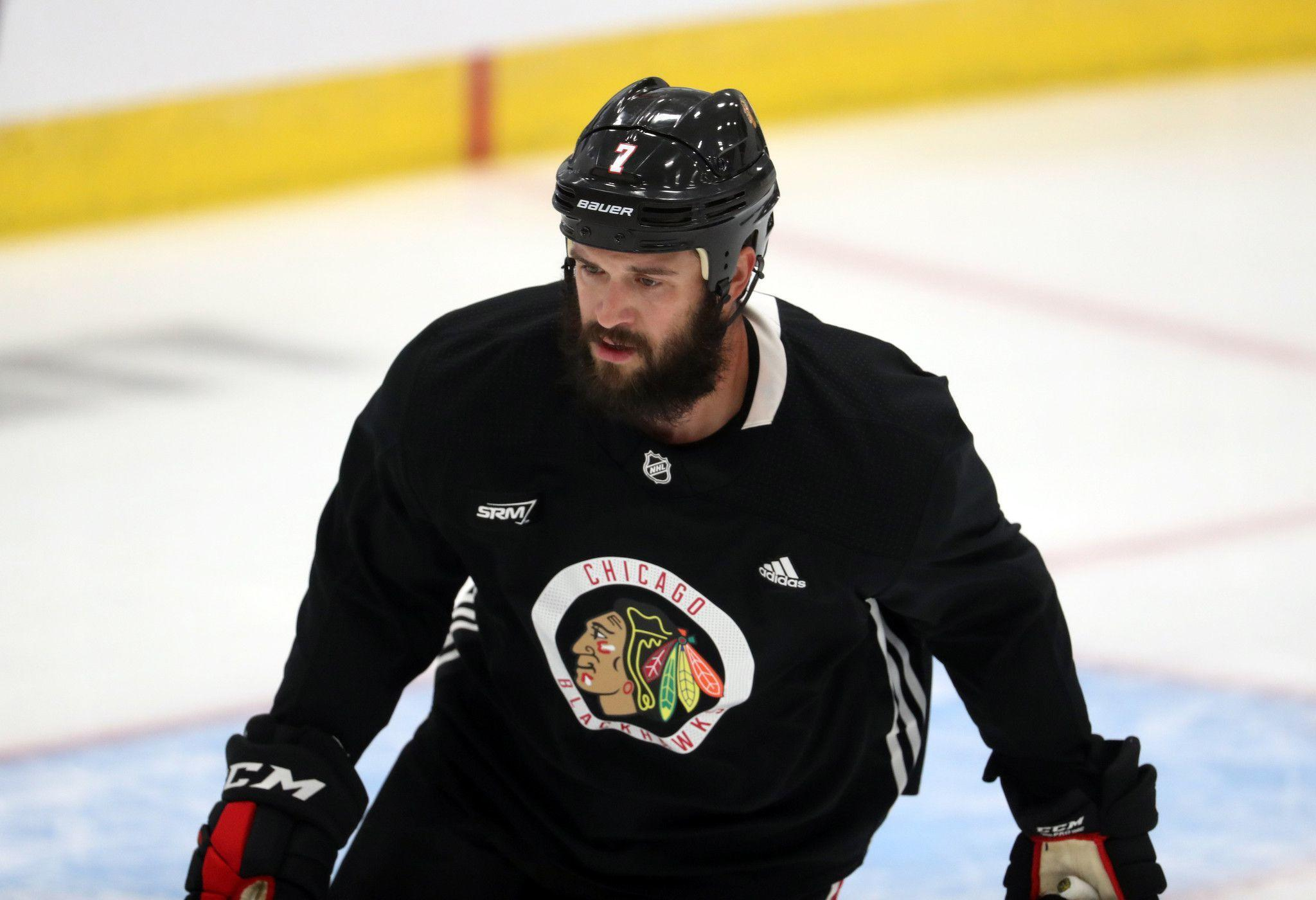Blackhawks defenseman Brent Seabrook won't travel to Edmonton for the playoffs: 'I just don't feel comfortable yet'