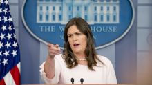 'The president hasn't done anything wrong,' Sarah Sanders says 9 times in 15 minutes