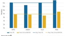 Refiners' Valuations for MPC, ANDV, VLO, and PSX