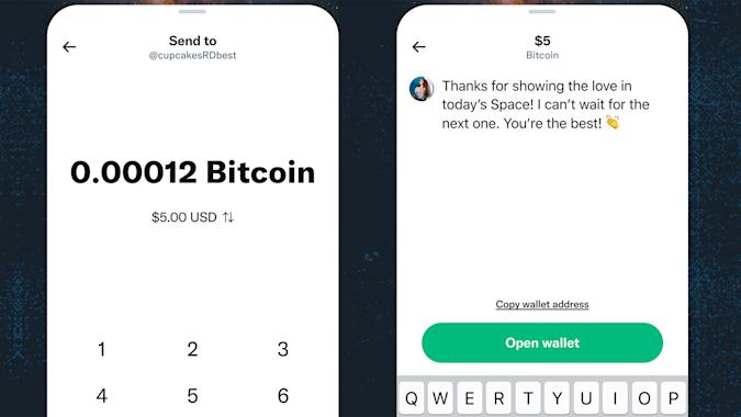 Twitter will let some users send tips with Bitcoin.