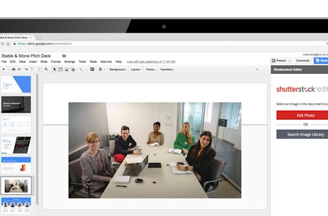 Google Slides add-ons pull in content from around the web