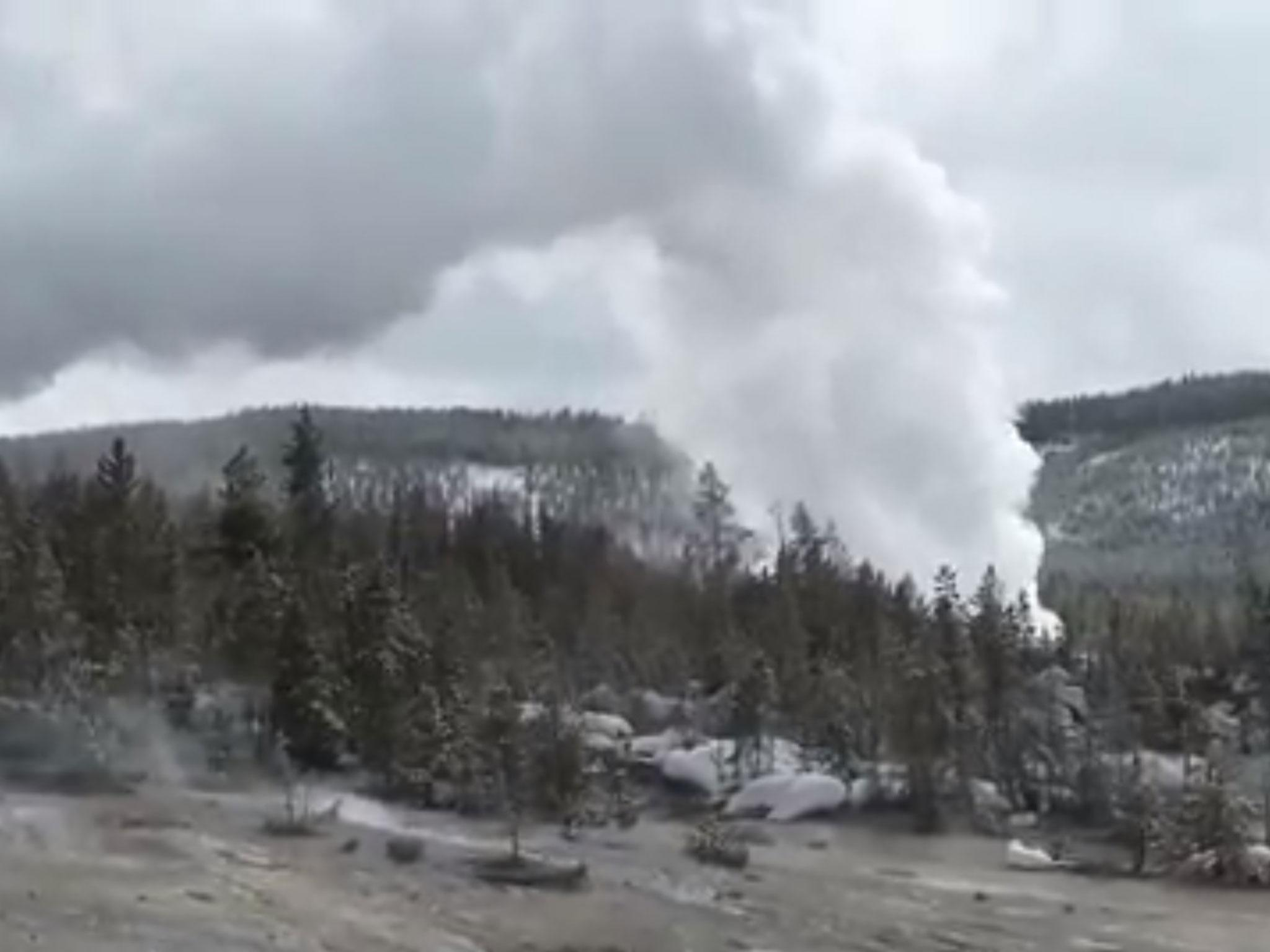 World's biggest active geyser erupts at Yellowstone National Park for fifth time this year