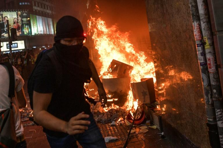 The protests, which began in June, have turned increasingly violent with street battles between young people and police (AFP Photo/Nicolas ASFOURI)