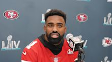 How are the Browns helping 49ers' Raheem Mostert be at birth of his son?