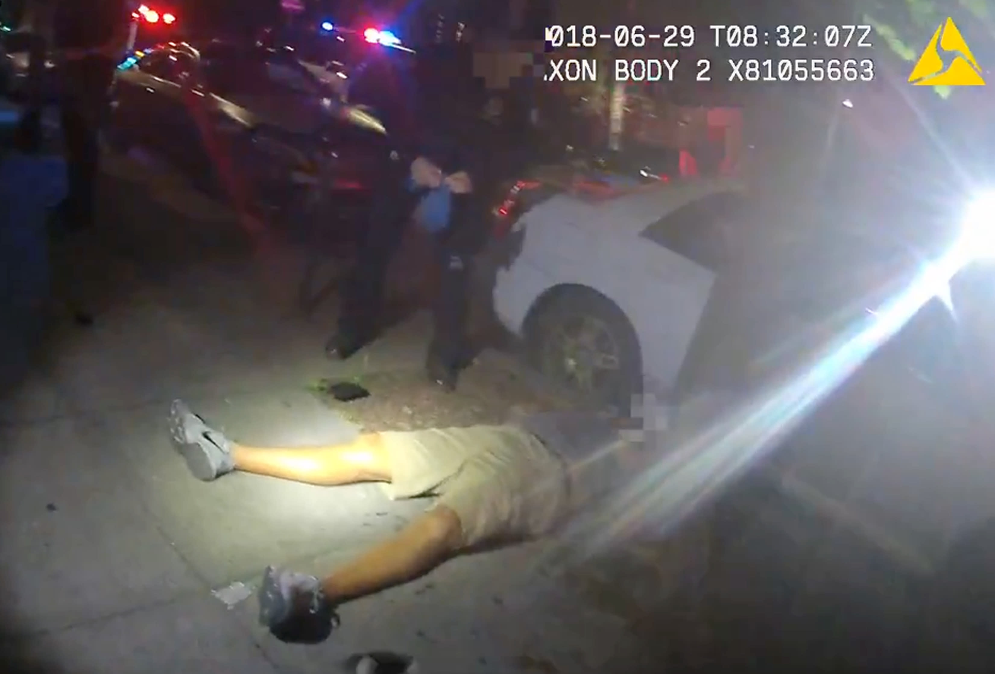 FILE - This June 29, 2018 video image from a police officer's body cam and provided by Portland State University, shows Jason Washington after he was shot and killed by university police officers in Portland, Ore. Portland State University said Thursday, Aug. 13, 2020, it will disarm its campus police force more than two years after officers from the department shot and killed a Black man who was trying to break up a fight. (Portland State University via AP, file)
