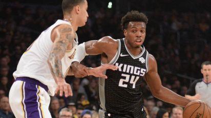 Kings and Lakers discussing Hield-Kuzma swap