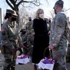 'We're a National Guard family': Jill Biden visits Capitol troops with cookies after some were forced to stay in garage