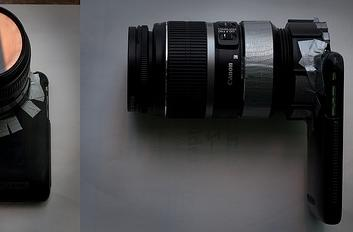 Phone-O-Scope brings SLR lenses to the iPhone the hard way