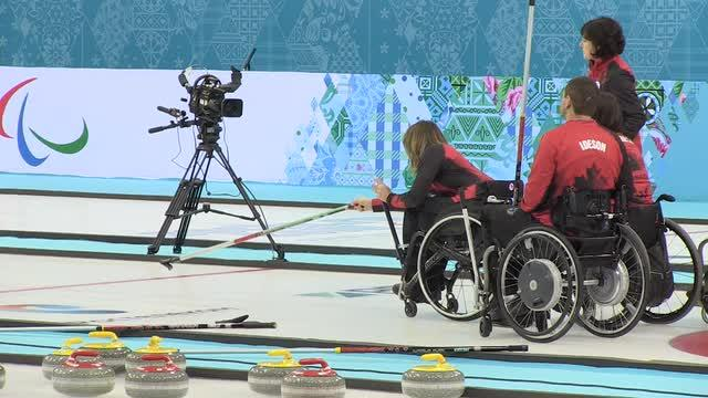 Canadian curlers practice in Sochi prior to the Paralympics