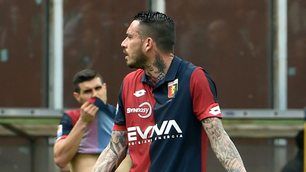 Genoa's Pinilla given five-game ban for slapping referee
