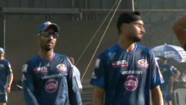 Mumbai Indians in practice session