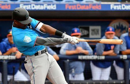 90712f4ce29 Spring training roundup  Marlins  Brinson hits two HRs