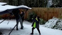 Dad's snow prank on his children backfires