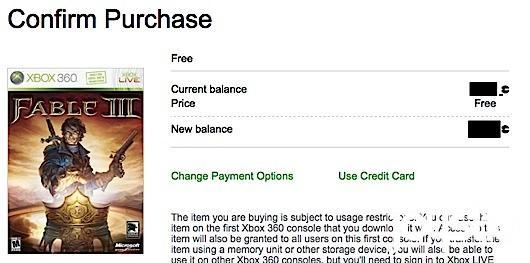 Fable 3 currently free on Xbox Marketplace