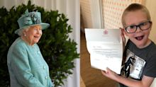Boy, 7, sends Queen a word search in case she's 'feeling sad or lonely'
