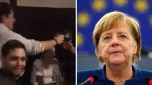 Germania, giovani Cdu imbarazzano Angela Merkel: i militanti cantano l'inno nazista