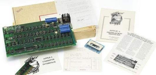 Apple-1 computer going on auction at Christie's in London
