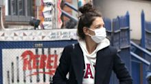 Katie Holmes Was Seen All Over NYC In a Men's Hoodie