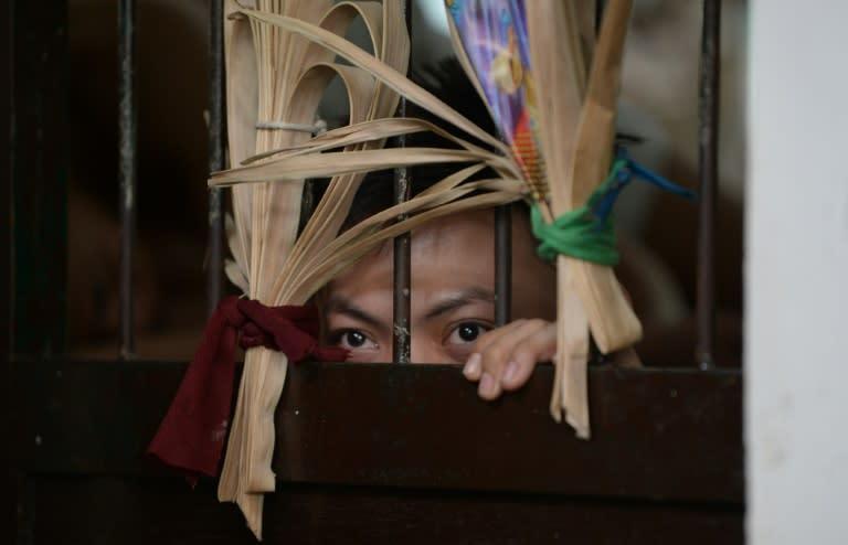 Philippine president Rodrigo Duterte has a tough-on-crime stance (AFP Photo/TED ALJIBE)