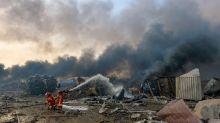 Salvataggio nell'esplosione in Libano