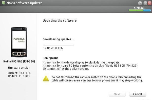 Nokia's N95 8GB sees update to v31.0.015