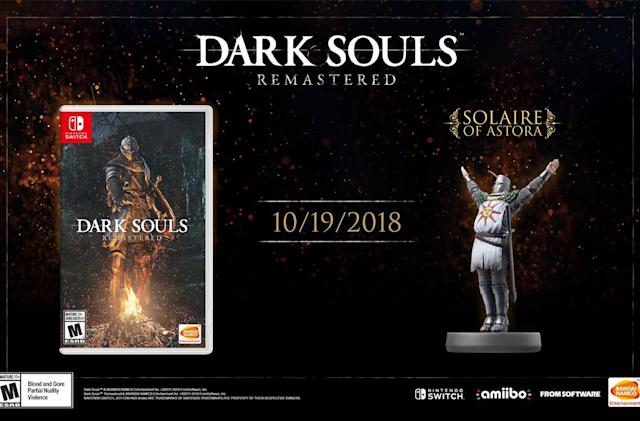 'Dark Souls: Remastered' arrives on Nintendo Switch October 19th