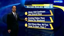 Dry cool weekend before storm moves in