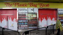 Art imitates life at Plastic Bag Store pop-up in New York