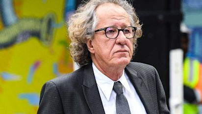 Geoffrey Rush arrives at court