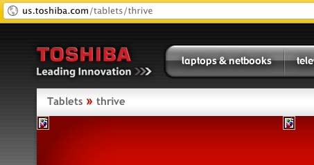 Product portal, tweets suggest 'Thrive' moniker for Toshiba's Honeycomb tablet