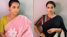 Vidya Balan Looks Stunning In Black-White And Sweet In Pink, Which Saree Look Of Hers Is Impressive?