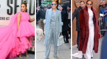 JLo rocks six stunning outfits in just one day