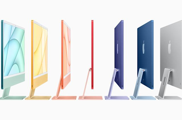 Apple's colorful new iMacs feature a sleeker design and the M1 chip