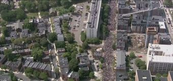 15,000 people turn out for an anti-Nazi march in Boston