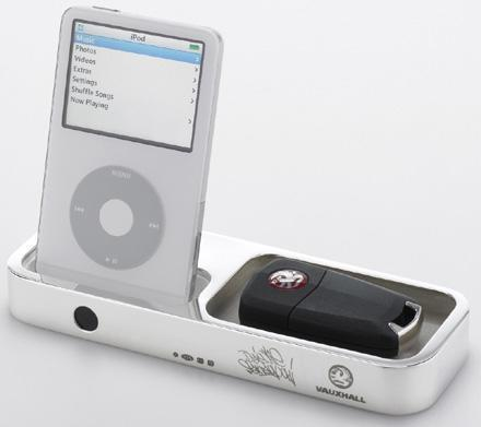 Vaux Dock: the Vauxhall-branded iPod cover / accessory holder