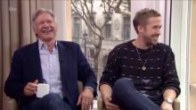 Harrison Ford and Ryan Gosling can't stop laughing throughout interview