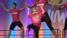 6-Year-Old Steals the Show With Impressive Zumba Moves